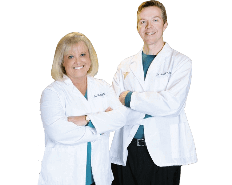 Powell dentist Dr. Shults, and Dr. Touhalisky